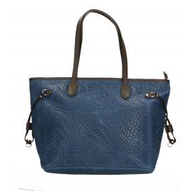 Kožená tmavě modrá kabelka přes rameno Helene Three