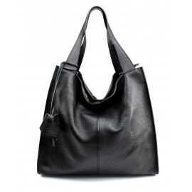 Kožená luxusní černá kabelka přes rameno Darci