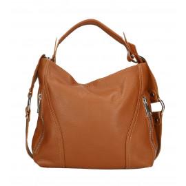 Kožená luxusní menší černá kabelka přes rameno Claudine Little