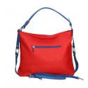 Kožená luxusní větší tmavě modrá kabelka přes rameno Claudine
