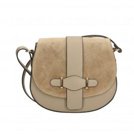 Kožená menší hnědá camel crossbody kabelka na rameno Jordane Two