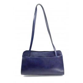 Kožená tmavě modrá kabelka přes rameno Lesly