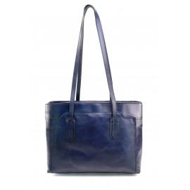 Kožená tmavě modrá kabelka na rameno Liones