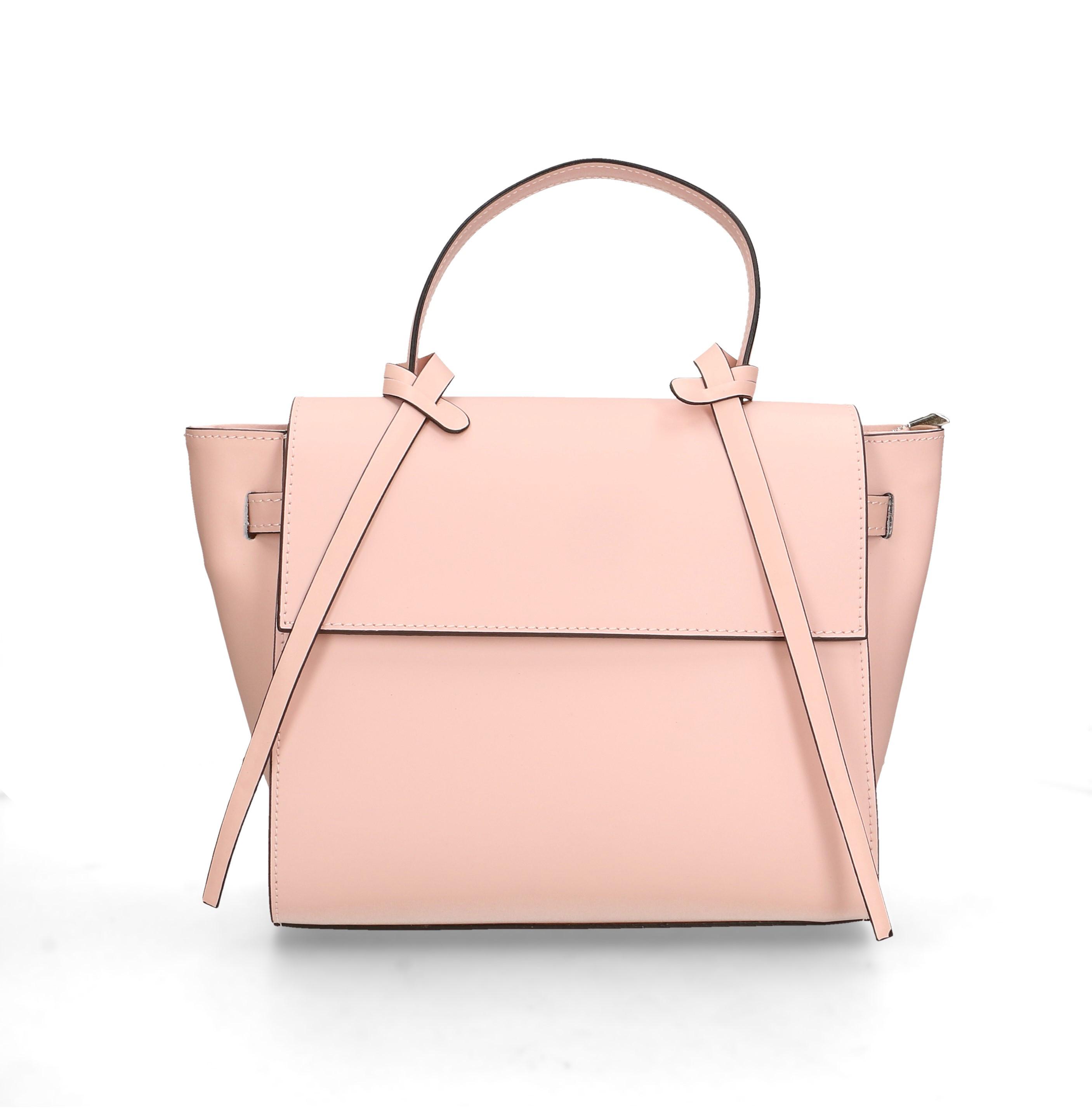 Kožená luxusní menší žlutá kabelka do ruky Chantal