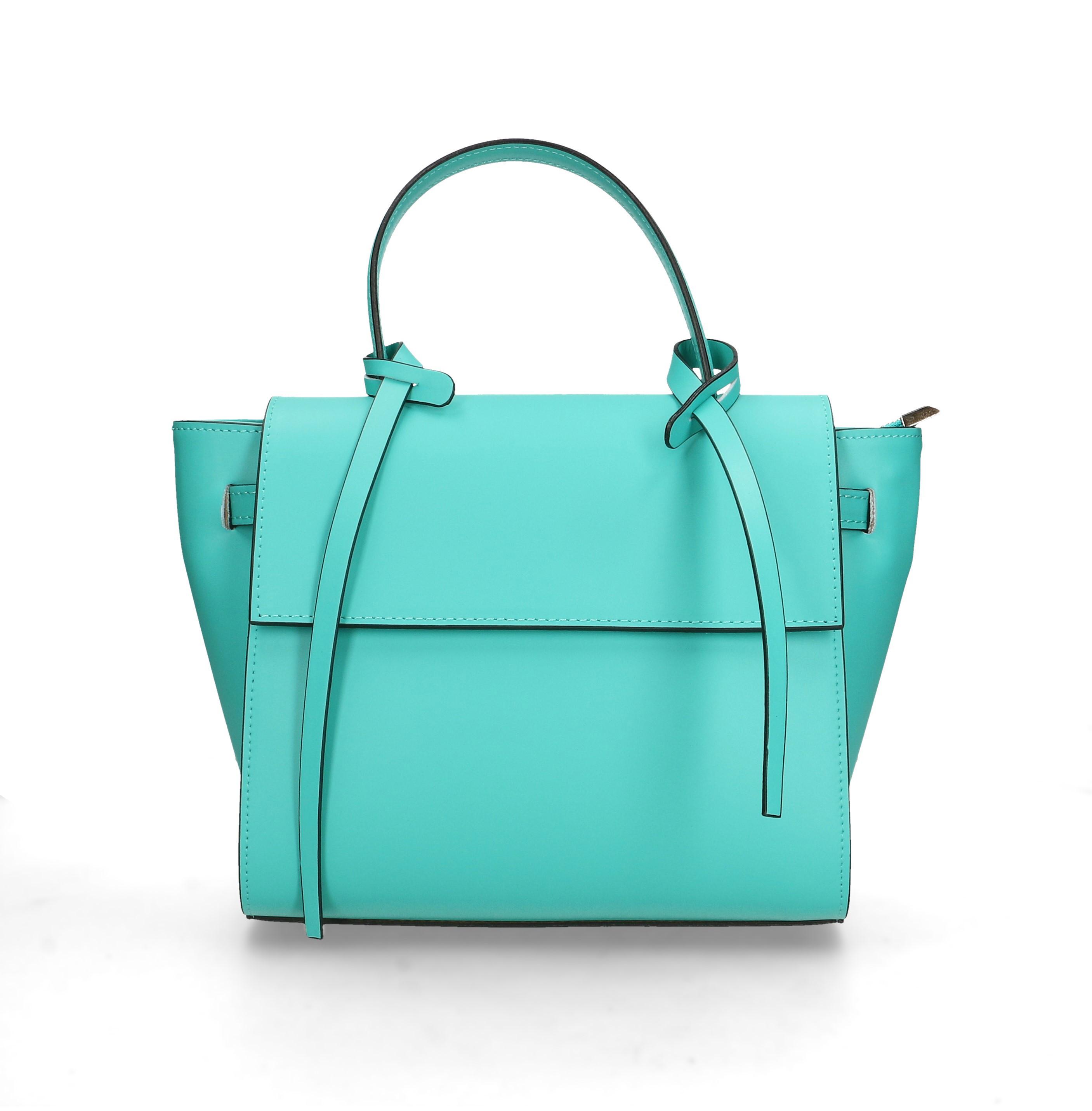 Kožená luxusní menší béžová beige kabelka do ruky Chantal