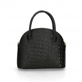 Kožená luxusní černá krokodýlí kabelka Edit