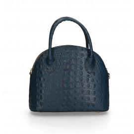 Kožená luxusní tmavě modrá krokodýlí kabelka Edit