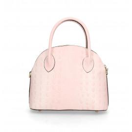 Kožená luxusní růžová krokodýlí kabelka Edit