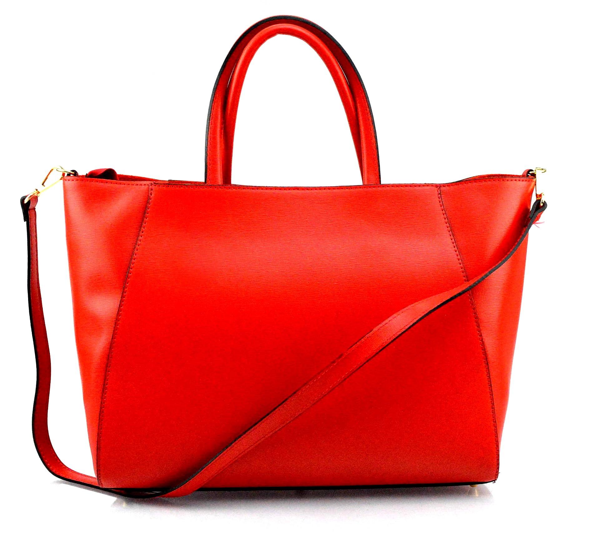 Kožená luxusní červená bordó kabelka přes rameno daveney