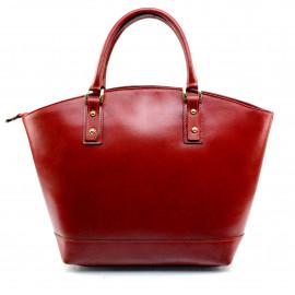 Kožená luxusní velká červená kabelka Clasic