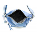 Praktická kožená větší tmavě modrá kabelka a batoh 2v1 Karin