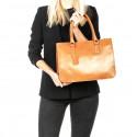 Kožená praktická černá větší kabelka Donna