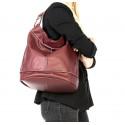 Kožená  hnědá camel velká taška na rameno adele two