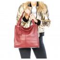 Kožená luxusní béžová taupe kabelka přes rameno Darci Little