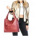 Kožená luxusní růžová kabelka přes rameno Darci Little