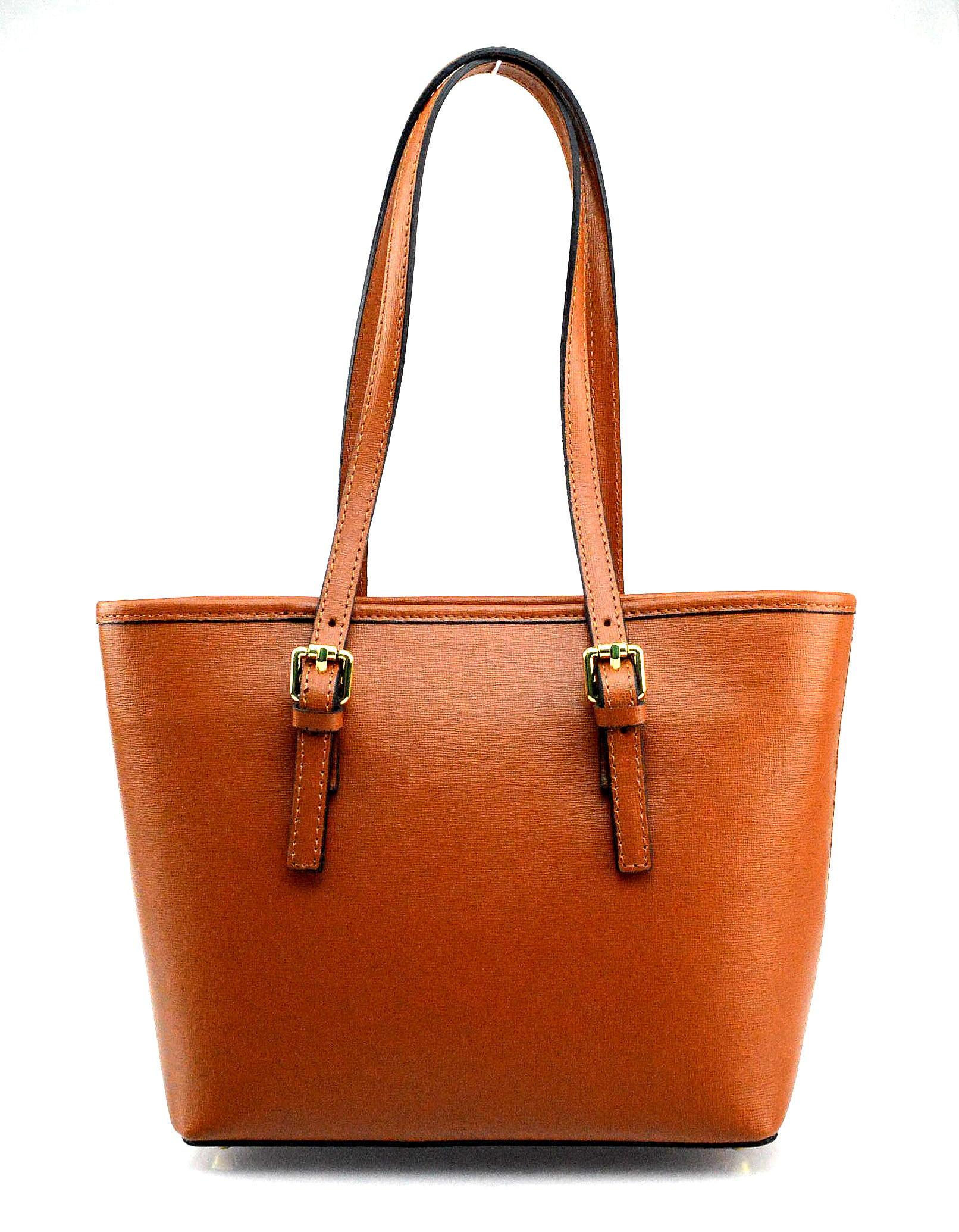 Kožená luxusní béžová taupe kabelka přes rameno alisane little