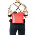 Kožená luxusní menší černá s červenou crossbody kabelka Royal