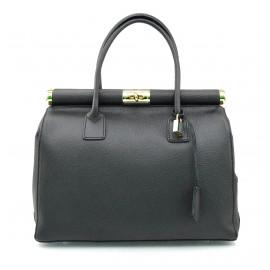 Stylová luxusní tmavě šedá kožená kabelka do ruky Aliste
