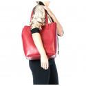 Kožená praktická hnědá velká taška Evita 2v1