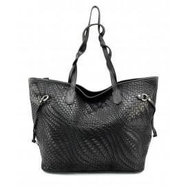 Kožená černá kabelka přes rameno Helene Three