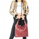 Kožená luxusní tmavě červená kabelka přes rameno Darci Little