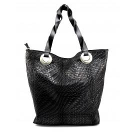 Kožená černá kabelka přes rameno Helene
