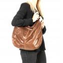 Kožená béžová taška na rameno relic