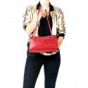 Kožená černá kabelka přes rameno Lesly