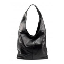 Kožená černá taška na rameno Feris