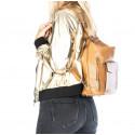 Praktická kožená větší béžová beige kabelka a batoh 2v1 karin