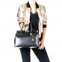 Kožená luxusní fialová kabelka do ruky Aliste
