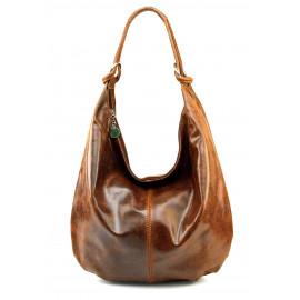 Stylová praktická hnědá  kožená kabelka přes rameno Relic