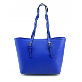 Kožená luxusní menší sytě modrá kabelka přes rameno Alisane Little