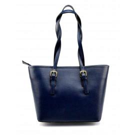 Kožená luxusní menší tmavě modrá kabelka přes rameno Alisane Little