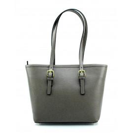 Kožená luxusní menší béžová taupe kabelka přes rameno Alisane Little
