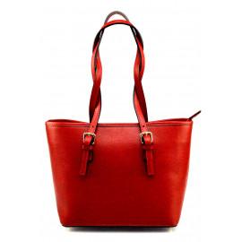 Kožená luxusní menší tmavě červená kabelka přes rameno Alisane Little