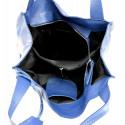 Kožená luxusní tmavě modrá kabelka přes rameno Darci