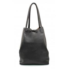 Kožená hnědá coffee brown shopper taška na rameno Melani Two Winter