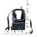 Praktická kožená větší tmavě červená kabelka a batoh 2v1 Karin Two