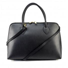 Kožená černá kabelka do ruky agi