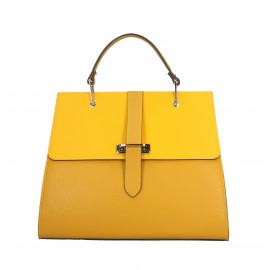 Kožená luxusní žlutá kabelka do ruky adeline