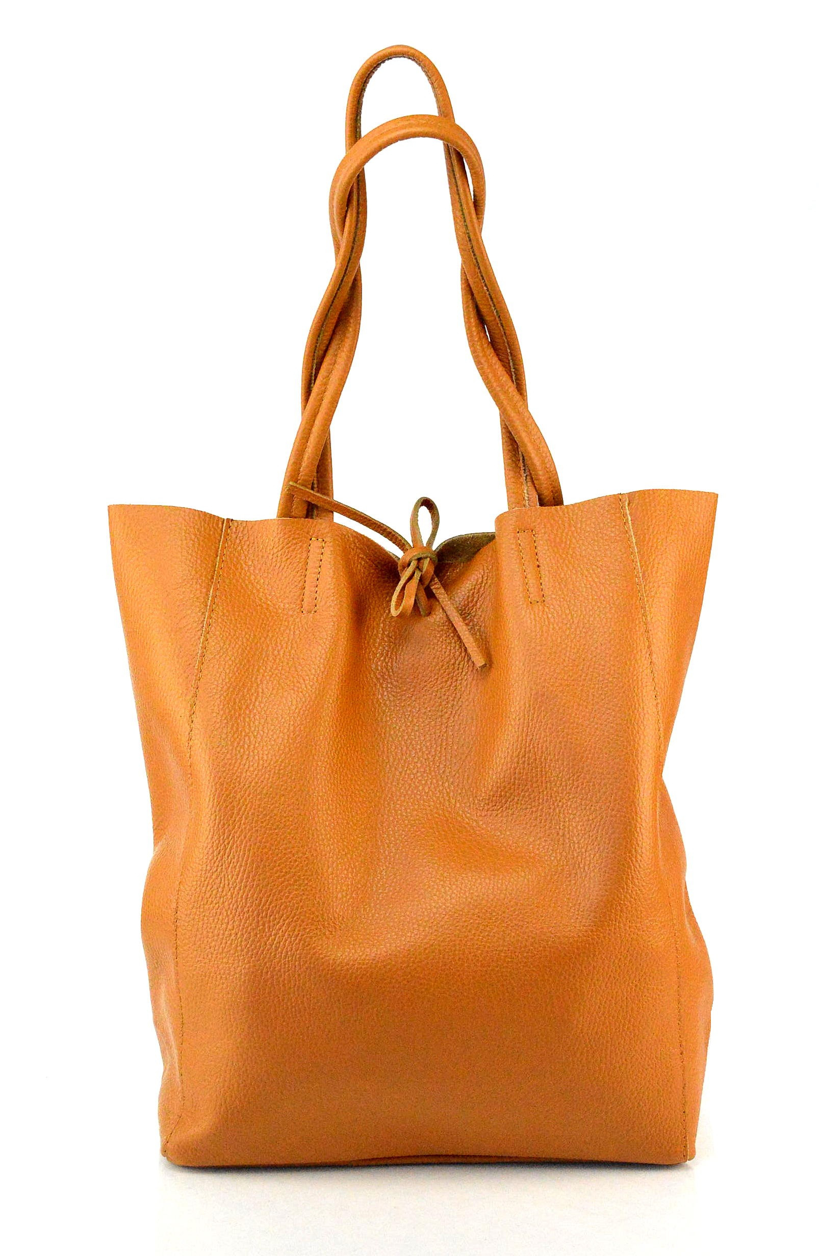 Kožená koňakově hnědá shopper taška na rameno Melani Two Winter