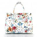 Kožená luxusní bílá kabelka s motivem květin Floral