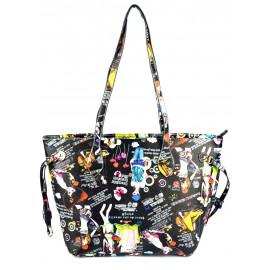 Černá vzorovaná kabelka Abbie