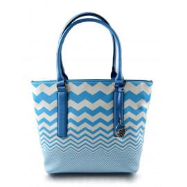 Barevná kabelka s modrými pruhy Iveta