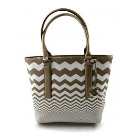 Barevná kabelka s hnědými pruhy Iveta