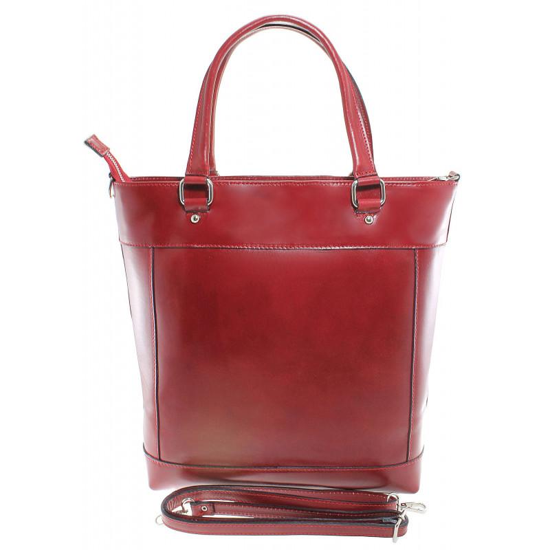 60b2abaf0d Kožená luxusní vysoká červená kabelka do ruky Tall - KabelkyZeSveta